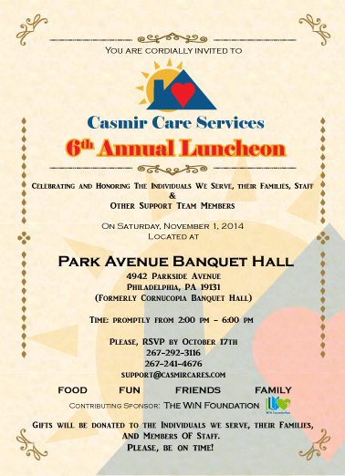 Casmir 6th Annual Luncheon